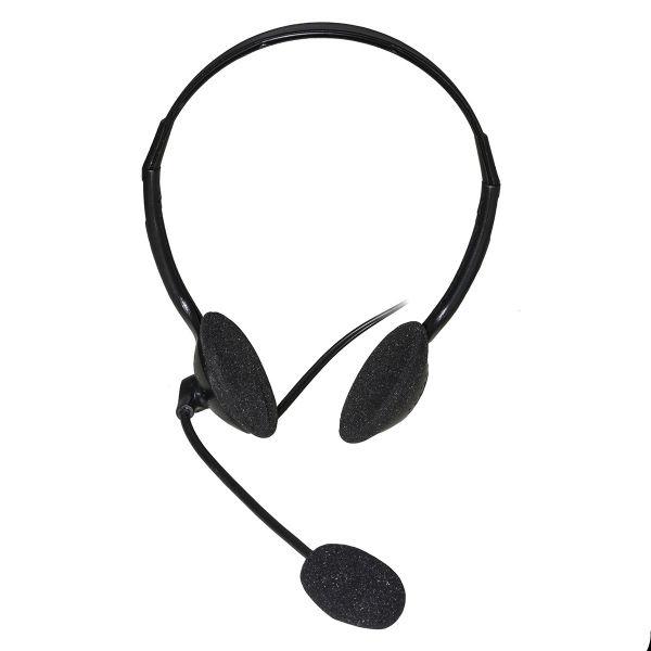 Cuffia c/microfono usb bk connettore usb e controllo volume