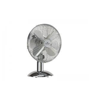 Ventilatore acciaio da tavolo  35w 4 pale allumin  1200giri oscillante