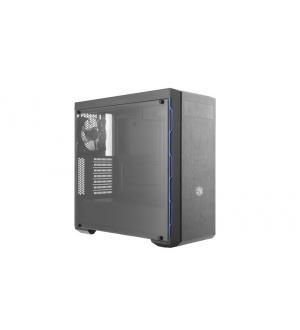 Case mid-tower no psu masterbox mb600l 2usb3 black blue window pane