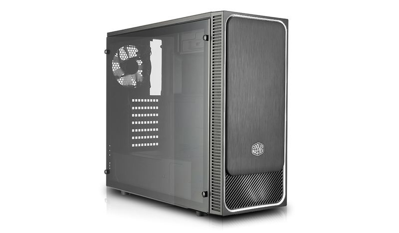 Case mid-tower no psu masterbox e500l 2usb3 black grey window panel