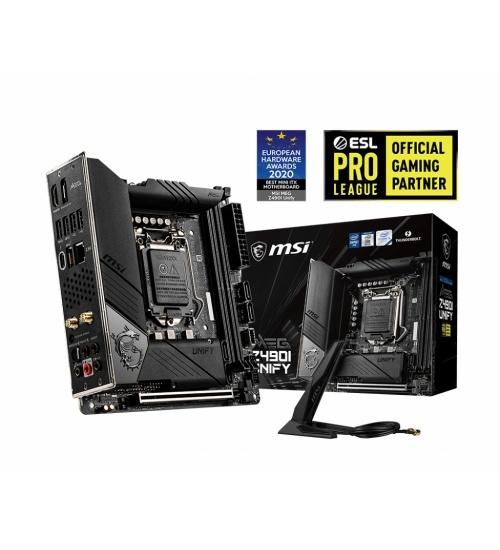 MSI MEG Z490I UNIFY scheda madre Intel Z490 LGA 1200 mini ITX