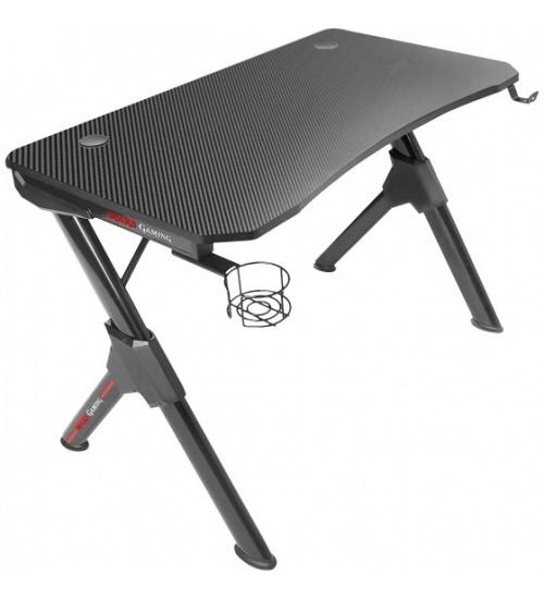 Mars gaming mgd gaming desk, carbon fiber - black