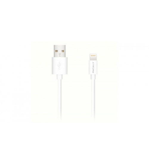 Cavo usb 2.0 lightning 90cm macally mfi ipad iphone white