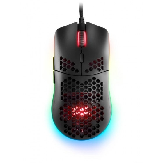 Mars gaming mmax  mouse rgb ultralight da 12400 dpi, black