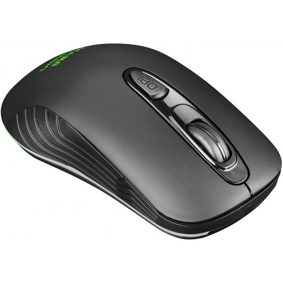 Mars gaming mmw2 wireless gaming mouse rgb flow, 3200dpi, soft-touch