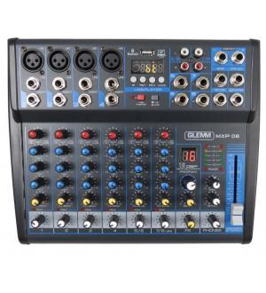 Mixer karma mxp08 8ch microfonico 4in microfono 8in line dsp 16bit