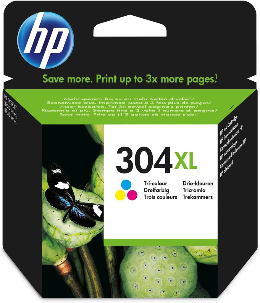 Hp 304xl tricolor original ink