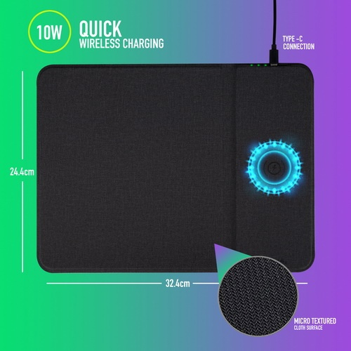 Ngs mouse pad pier con ricarica wireless 8435430617467