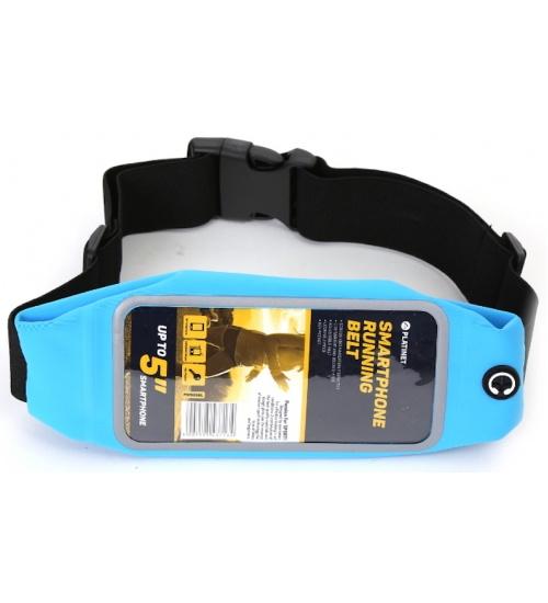 Cintura custodia per smartphone running bag blu