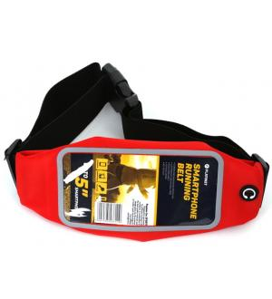 Cintura custodia per smartphone running bag red
