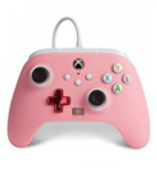 Controller wired powera rosa (xbox one / series x / pc)