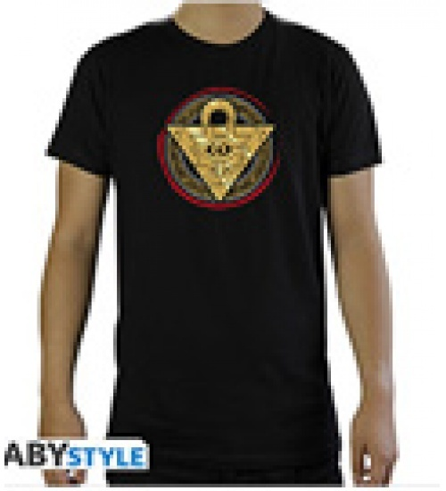 T-shirt yu-gi-oh! millennium puzzle uomo nera s