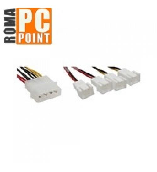 Nline cavo riduttore tensione alimentazione ventole da 2x 12v a 2x 5v, supporta 4 ventole