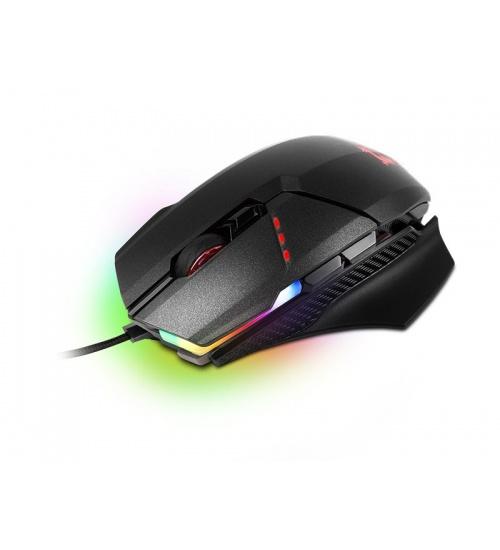 Mouse gaming clutch gm60 black usb con filo 10800dpi 8 tasti rgb