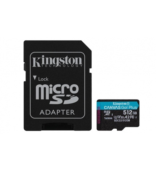 Kt 512gb msdxc goplus u3 + adp