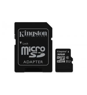 Sd micro 32gb cl10 uhs-i con adatt. 80mb/s let.10mb/s scrit.kingston