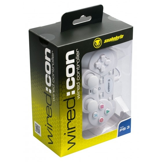 Snakebyte ps3 wired controller analogico - white per ps3