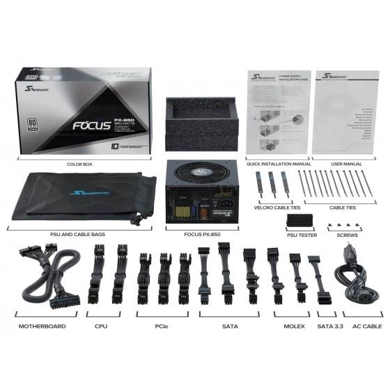Seasonic focus+ px alimentatore atx modulare 80+ platinum da 850w