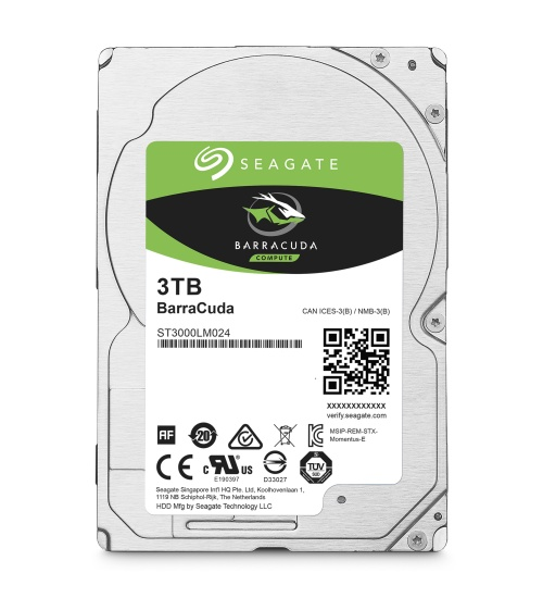 Hard disk seagate barracuda 2.5 sata3 3tb 64mb 5400rpm