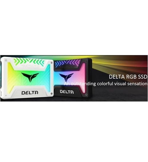 Ssd Team delta 250gb rgb bianco 2.5`` 5v nand f. 3d 560/500mb/s t253tr250g3