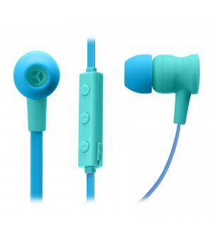Auricolari wireless v 5.0 con microfono integrato, tasti di risposta/fine chiamata, regolazione volume e cambio traccia, colore blu