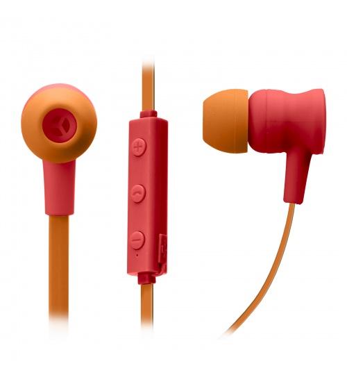 Auricolari wireless v 5.0 con microfono integrato, tasti di risposta/fine chiamata, regolazione volume e cambio traccia, colore rosso