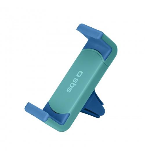 Supporto da auto con clip per bocchette d'areazione con apertura fino a 70mm, colore blu