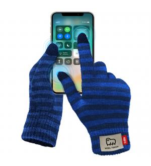 Guanti invernali utilizzabili con schermo touch, taglia l, colore blu - azzurro