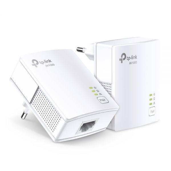 Powerline av1000 kit 2pz 1p gigabit 1000mbps powerline