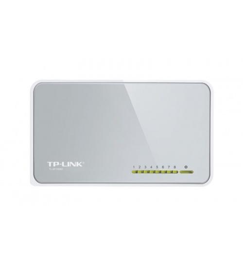 Switch 8p 10/100mbps tp-link plasti c case