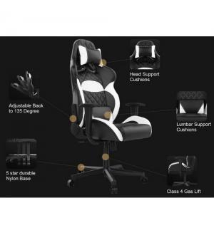 Gamdias sedie gaming zelus e1 black / black