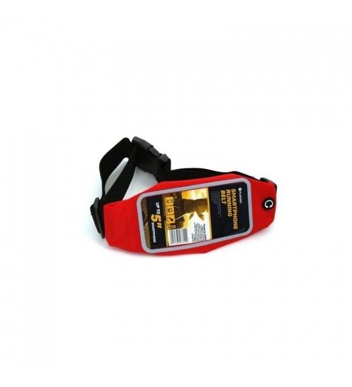 Cintura elastica porta smartphone per corsa e sport di colore rosso