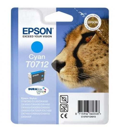 Cartuccia di inchiostro originale Epson ciano T0712