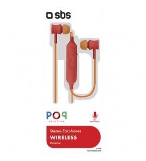 Auricolari Wireless V 5.0 con microfono integrato, tasti di risposta e fine chiamata, regolazione volume e cambio traccia, colore rosso