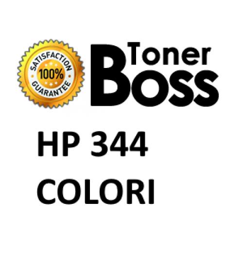 Cartuccia compatibile HP 344 ciano, magenta e giallo