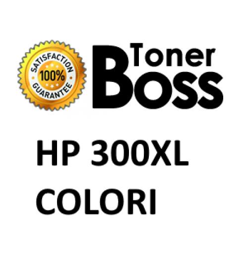 Cartuccia compatibile HP 300XL ciano, magenta e giallo